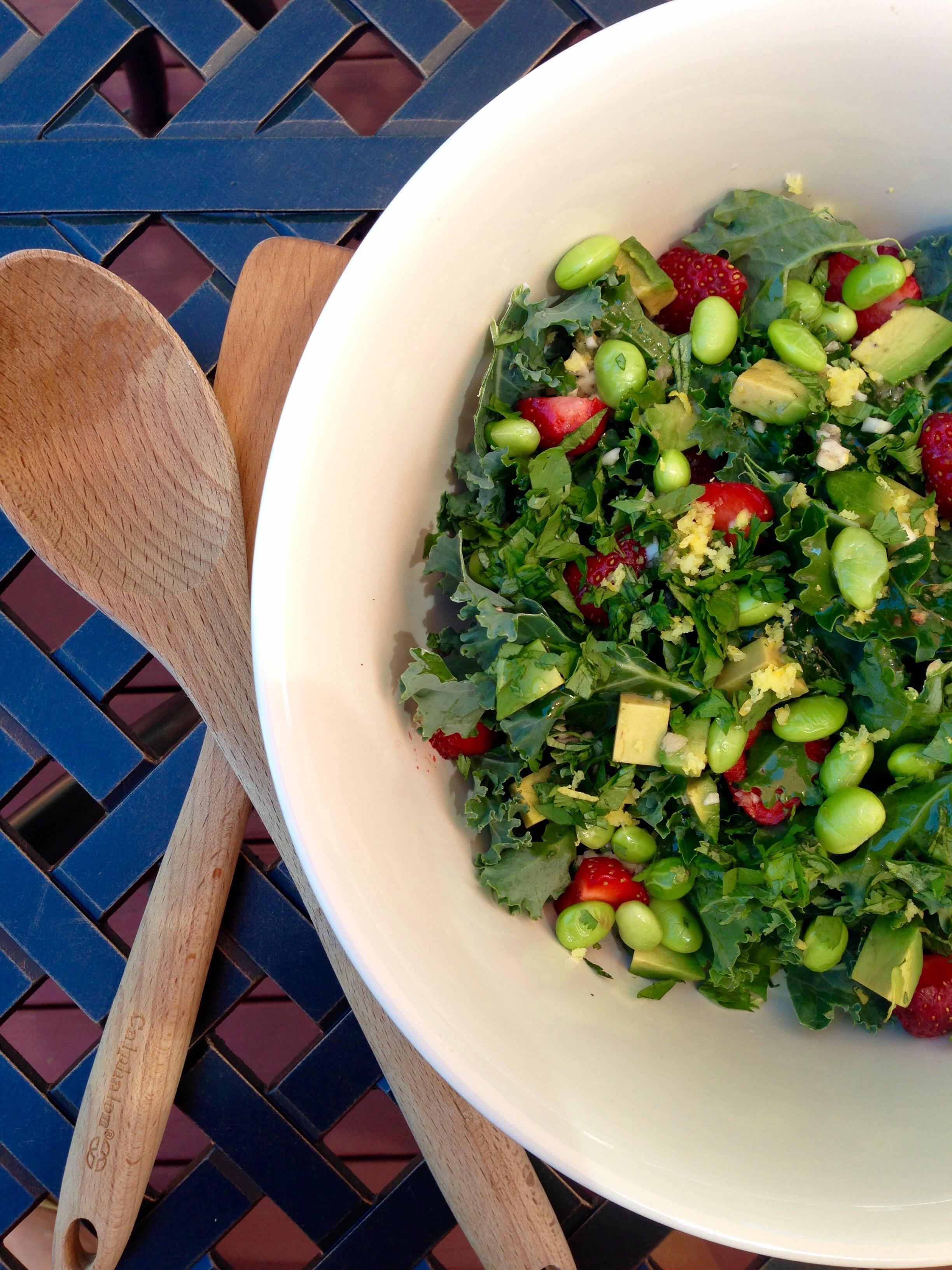 Summer Kale Salad – megsmealplanning